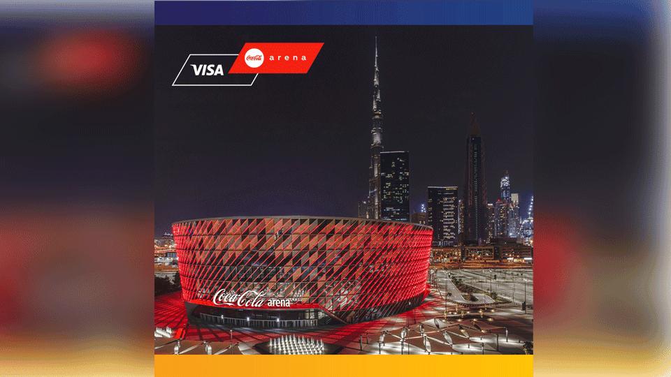 Visa الشريك الرسمي للتأسيس والمدفوعات لصالة كوكا كولا أرينا