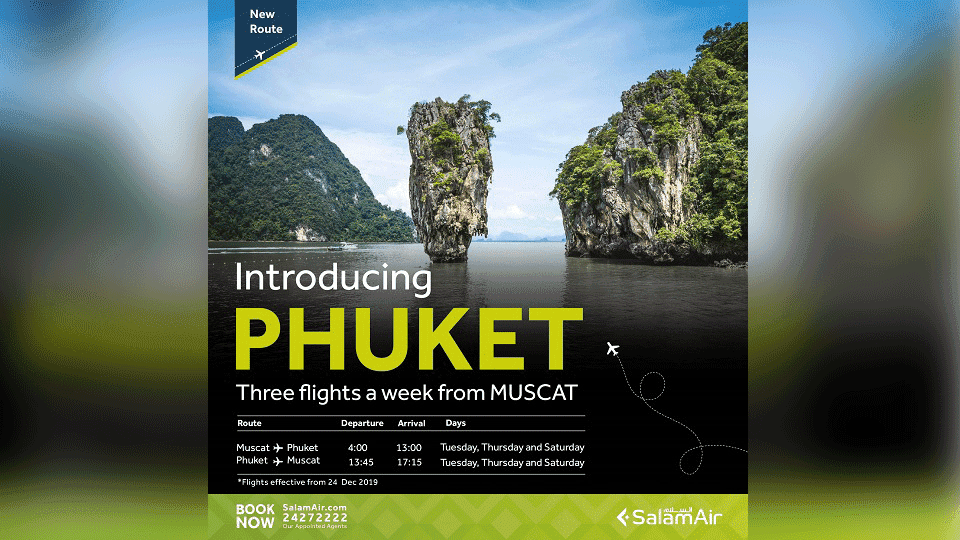 SalamAir Spreads Wings to Southeast Asia, Announces First Direct Flights Between Muscat and Phuket
