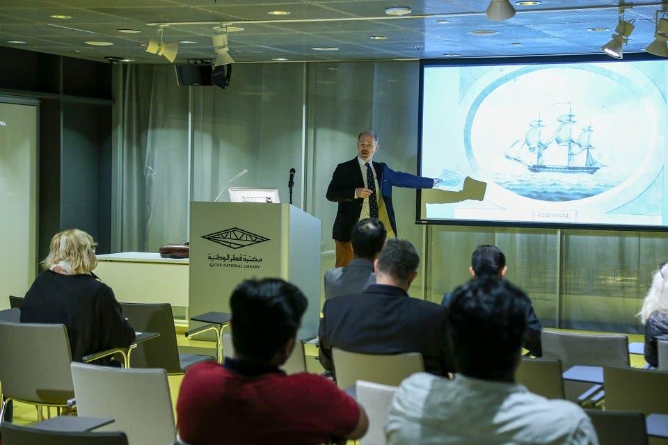 محاضرة في مكتبة قطر الوطنية حول الدور التاريخي للأسطول الهندي في الخليج