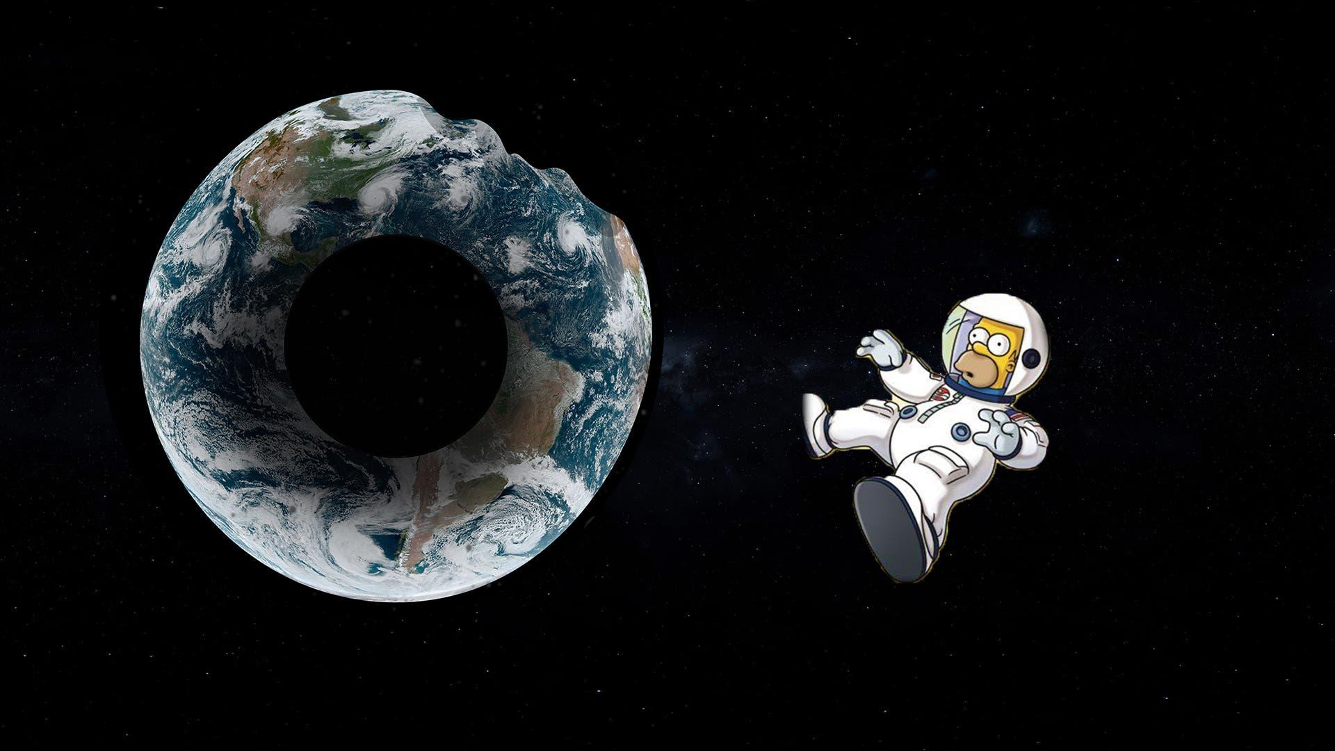 Это Гомер Симпсон... он видит вместо планеты пончик.