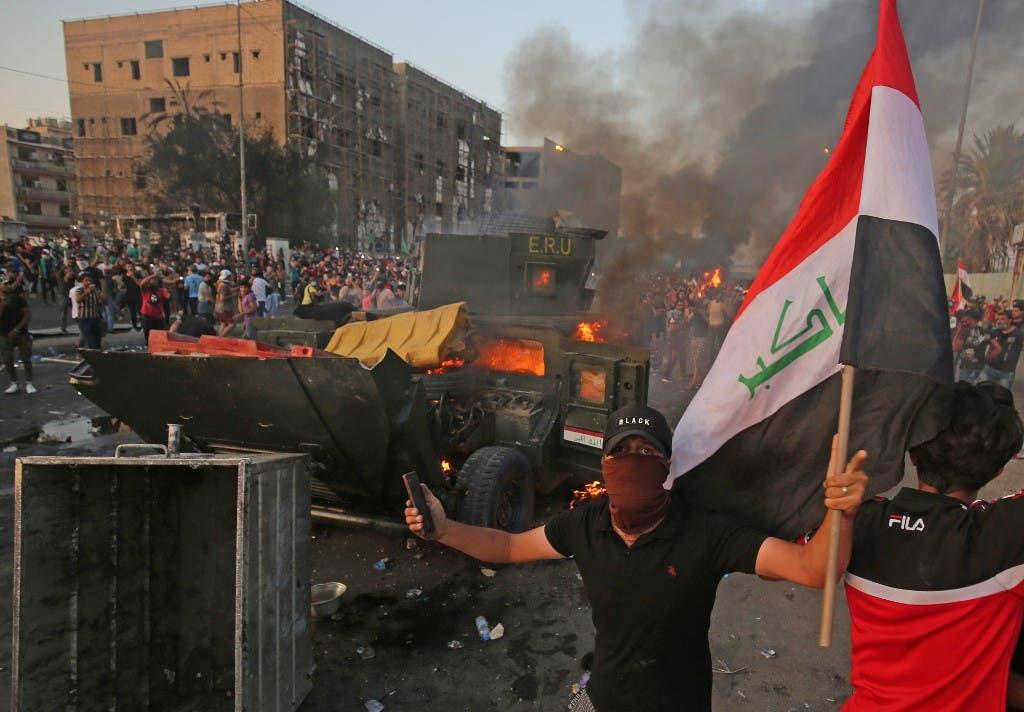 العراق.. 5 قتلى و 70 إصابة باضطرابات الناصرية