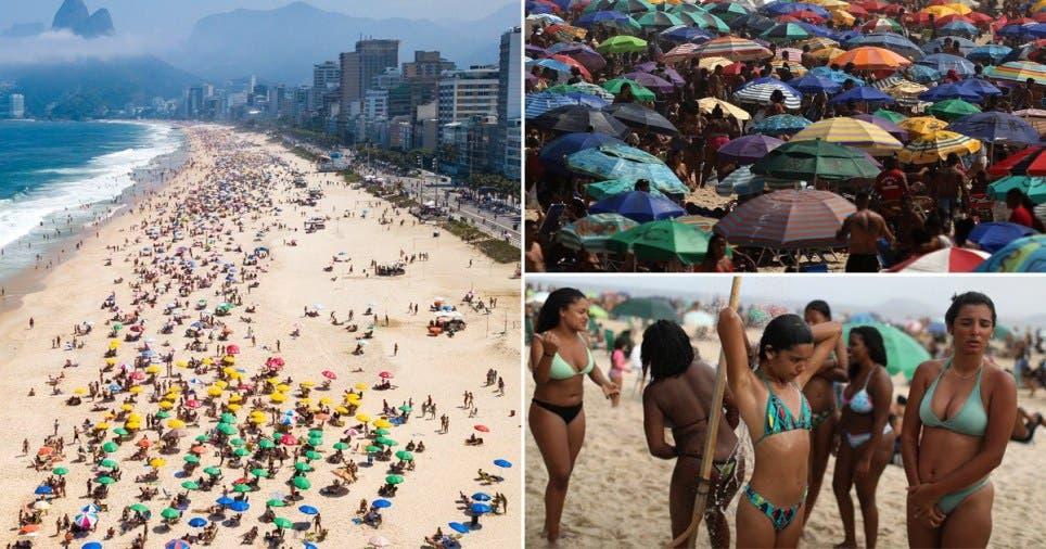 Brazilian Beaches Packed Despite Soaring Virus