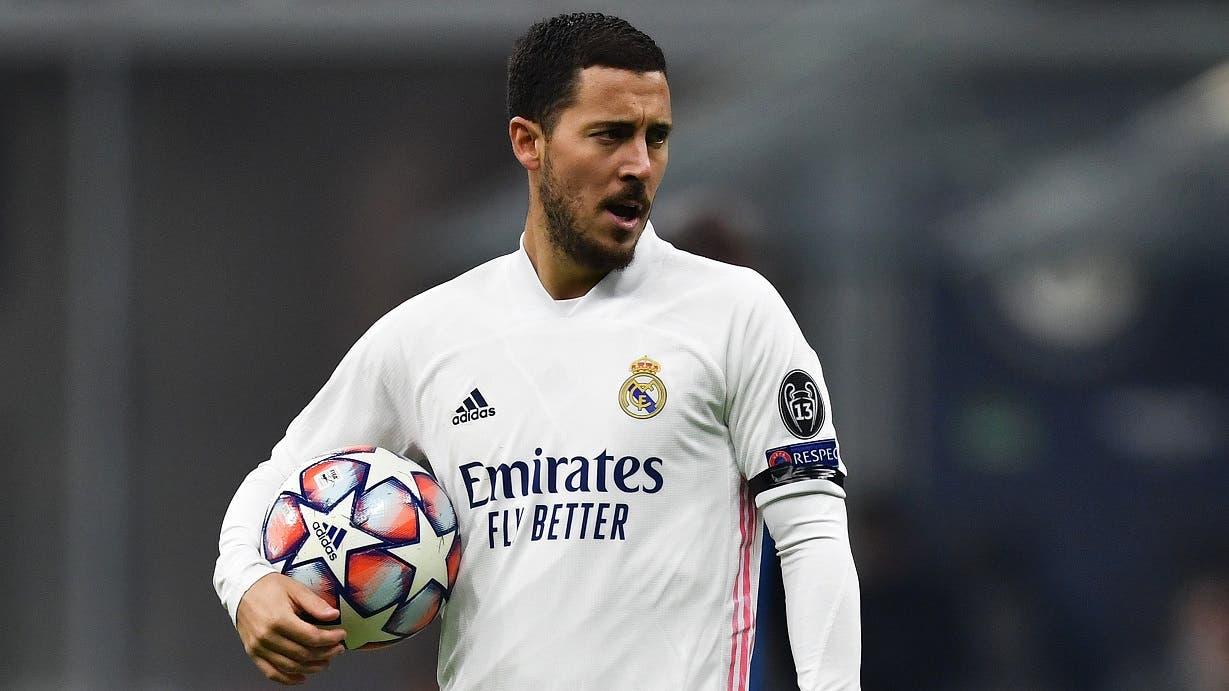 ريال مدريد يرفض المجازفة بهازارد أمام ليفربول