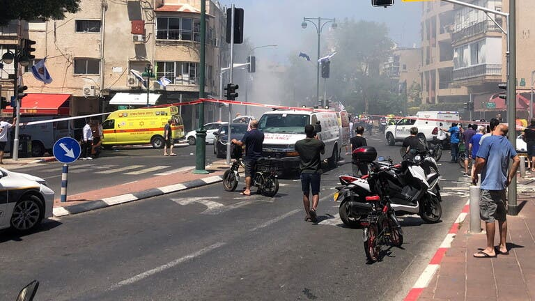 """هجوم صاروخي كبير على """"اسرائيل"""""""