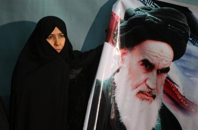 Ayatollah Ruhollah Khomeini, the trigger for a revolution which spawned an Islamic state now engulfed in a deep political crisis.
