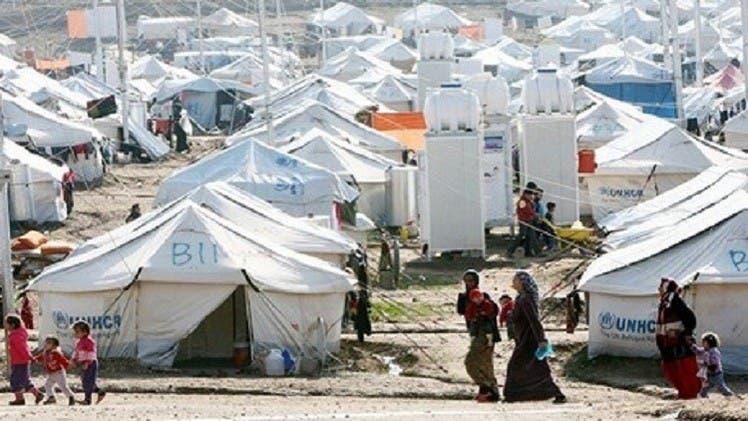 أحد المخيمات للاجئين السوريين