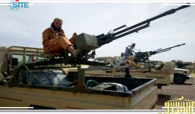 Screen shot posted on jihadist forums by a group calling itself