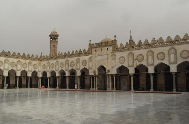 Al Azhar Mosque, the center of Islamic authority in Egypt.