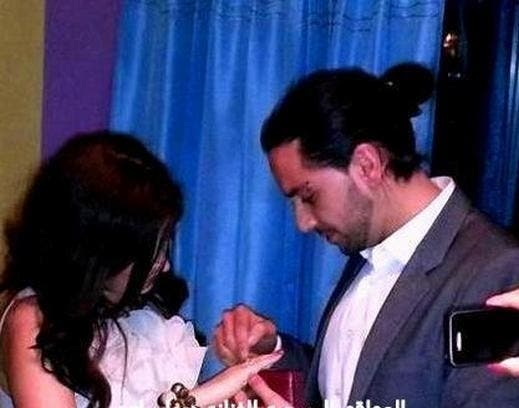 Deema and new fiancé, Ahmad al Hilo