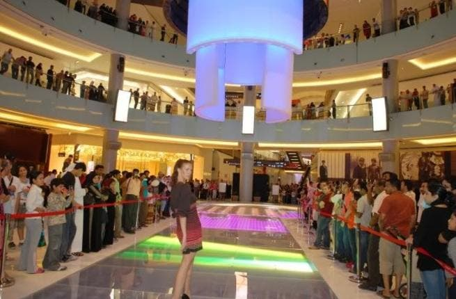Launch of the catwalk at Dubai Mall.