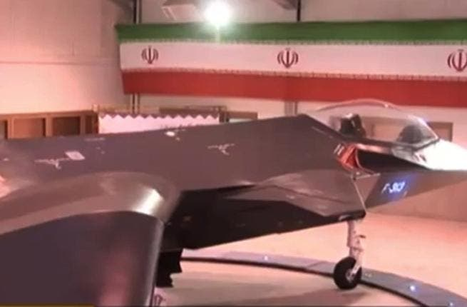 The fake fighter jet in action.