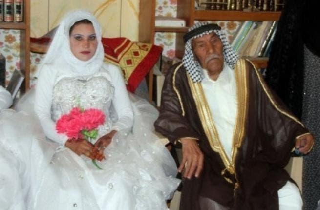 The happy couple: Grandpa and his bride!