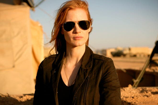 Jessica Chastain starred as a CIA operative in 'Zero Dark Thirty'.