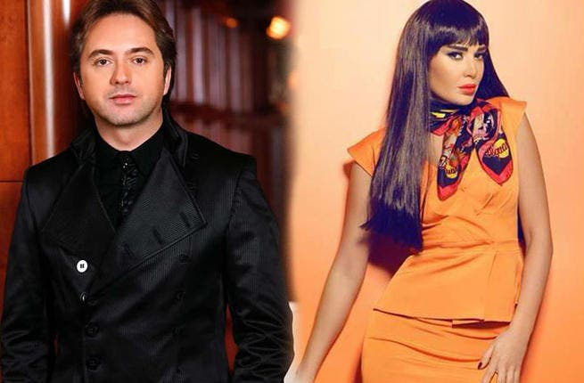 Marwan Khoury records song for Cyrine Abdel Nour's TV show (Image: Facebook)