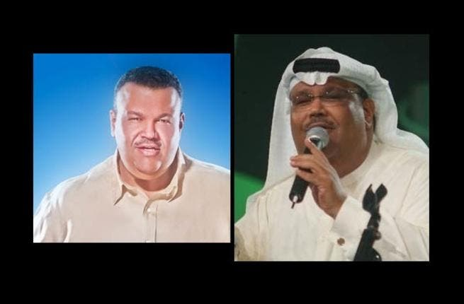 Nabil following the weight loss (L) and before.