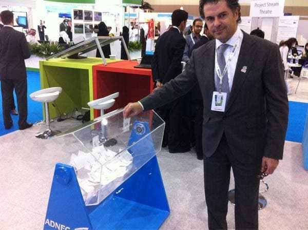 Ragheb Alama figures out the wonders of recycling.