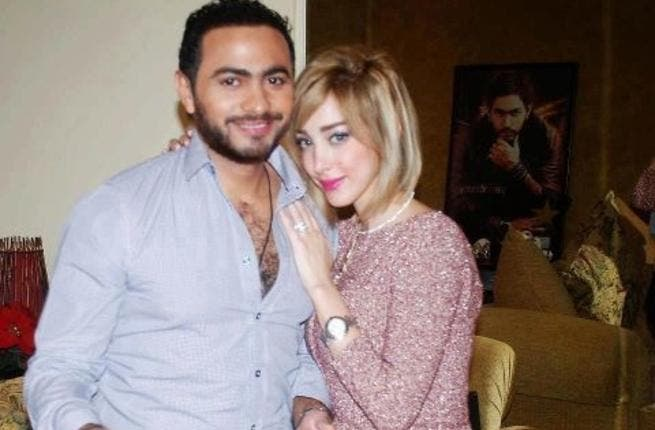 Tamer with his wife Basma (picture courtesy of 123 People).