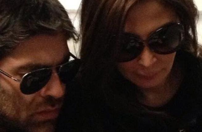 Wael Kfoury (L) and Elissa.