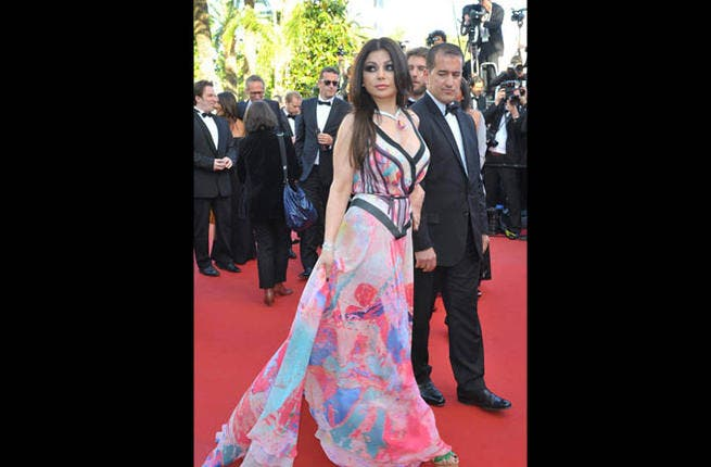 The French really love her: Haifa Wehbe at the Cannes Film Festival last month (Image: Facebook)