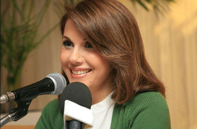 Majida El Roumi stays calm and collected in Tunisia. (Image: Facebook)