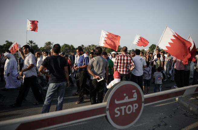 Protests have broken out in Bahrain after the arrest of ex-MP Khalil Mazrooq. (Image credit: AFP)