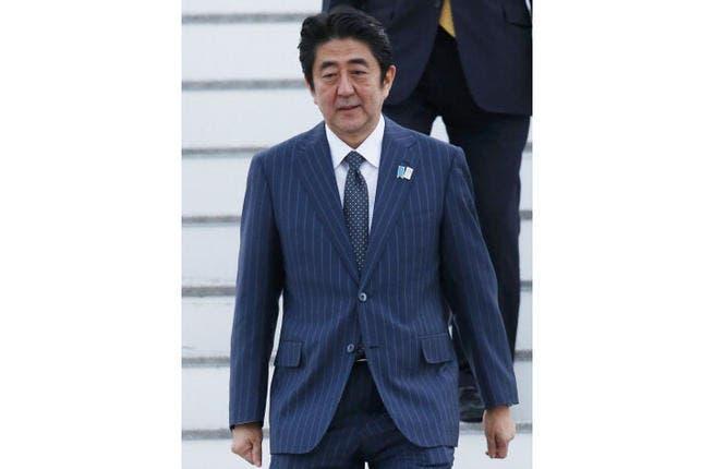 Abe is on a six-day trip through Thursday that has taken him to Bahrain, Kuwait, Djibouti and Qatar.