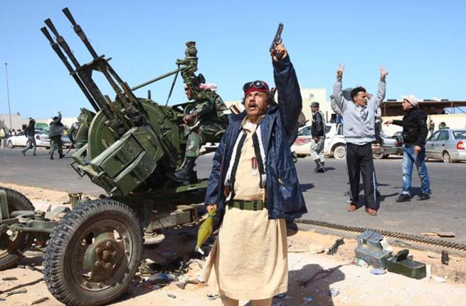 Libyans engage in a little celebratory firing