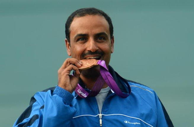 Kuwait: the tiny oil kingdom hits up a bronze in men's trap shooting. Fehaid Aldeehani gets 3rd place for men's trap shooting.
