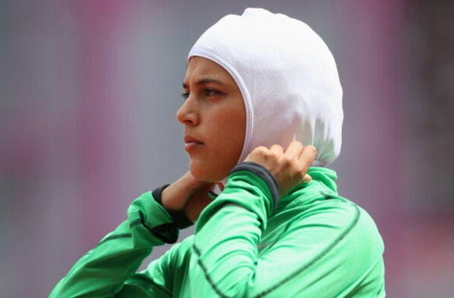 Save the best for last: Last in our slides, and last in her race, but first for Arab pride and women athletes everywhere as a Saudi woman is the first to compete at the Olympics, in the track and field.