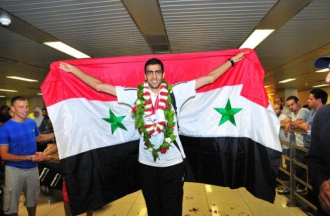 Majd Ghazal takes a gigantic leap of faith for Syria: The 25-year-old high jumper will carry his country's flag, and with it Syria's hope  of a silver lining to their darkest clouds. He won a silver medal at last year's Asia Athletics Championships and is feeling quite modest about his chances at London 2012.