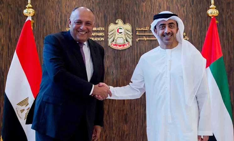مصر والامارات تؤكدان تمسك الدول الأربع بموقفها في الأزمة مع قطر   البوابة