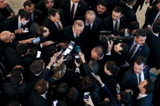 اردوغان يتعهد تدمير  اوكار  المسلحين الاكراد في سوريا   البوابة