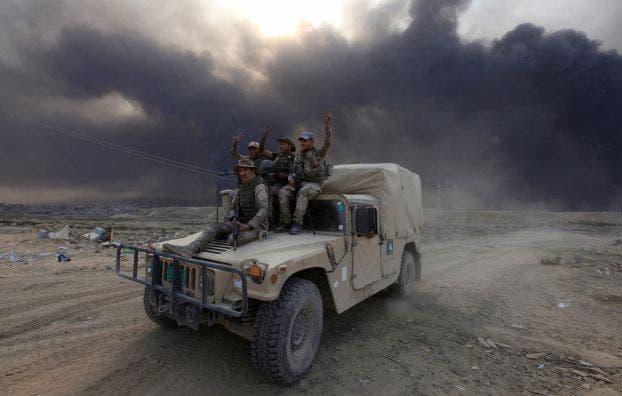 القوات العراقية تتقدم نحو قرقوش