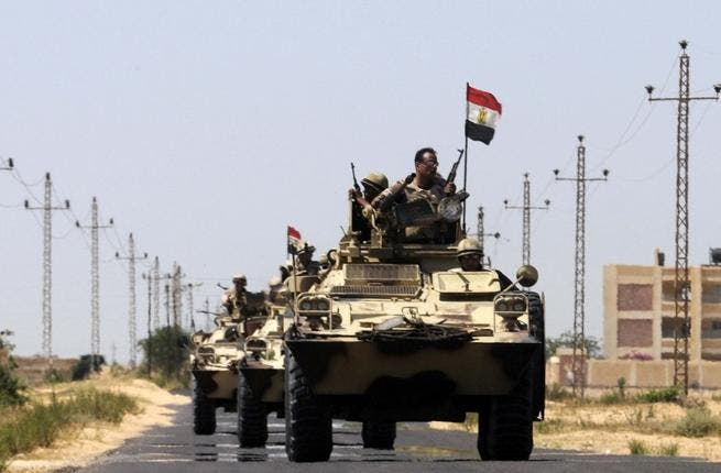 Egyptian troops in the border area of the Sinai Peninsula have killed fourteen Islamist militants (AFP/ File Archive).