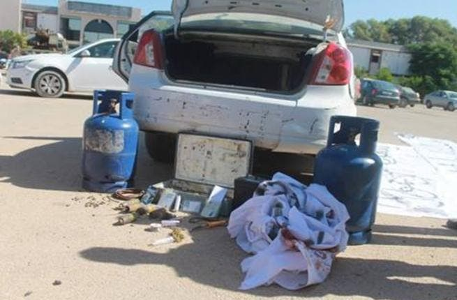 Car bombs are often made using gas containers and explosives placed inside the trunk of the car.  [Ashraf Abdul-Wahab]