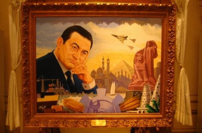 Mubarak is the face of 9Os Egypt, among other decades (Image source: Jadaliyya)