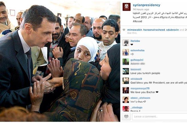 A photo uploaded to Bashar Al Assad's Instagram