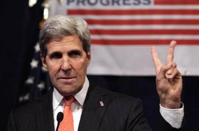 Kerry in Egypt working on continued peace efforts. [Reuters]
