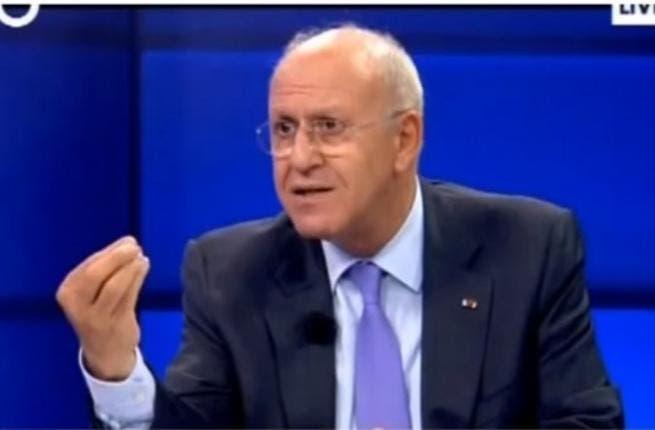 Former Lebanese intelligence minister Michel Samaha (Image capture from YouTube video)