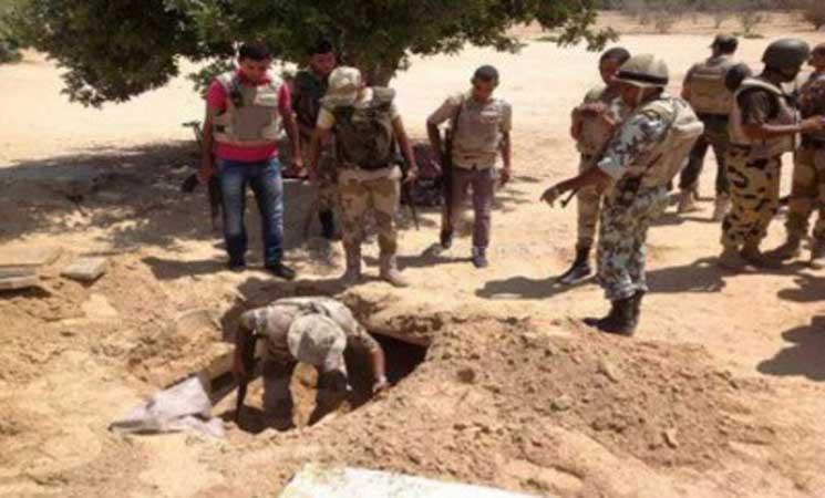 الجيش المصري يدمر 4 أنفاق على الحدود الشرقية   البوابة