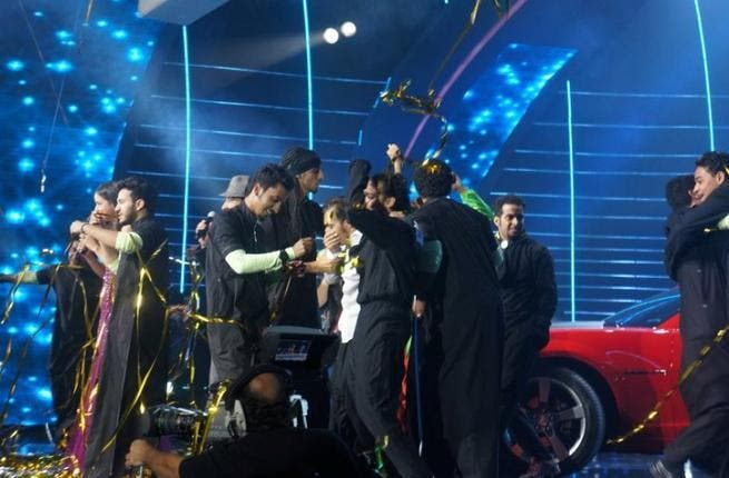 Saudi troupe Khawater al Dalam announced the winner of the second season of Arabs Got Talent in 2012.