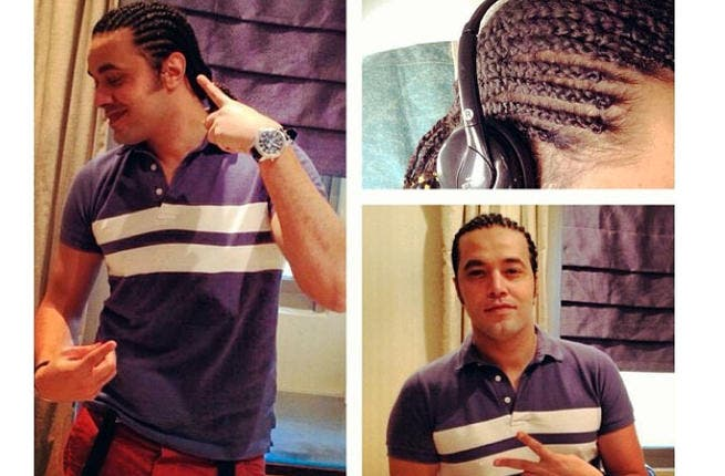 Bye bye afro, hello braids. Abdel Fatah gets a new look! (Image: Instagram)