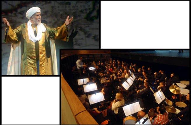 Abdelrahman Abou-Zahra Wroclaw as Ibn Battuta Senior / Philharmonic Orchestra and conductor Hisham Gabr, dress rehearsal (Photos by Ati Metwaly)