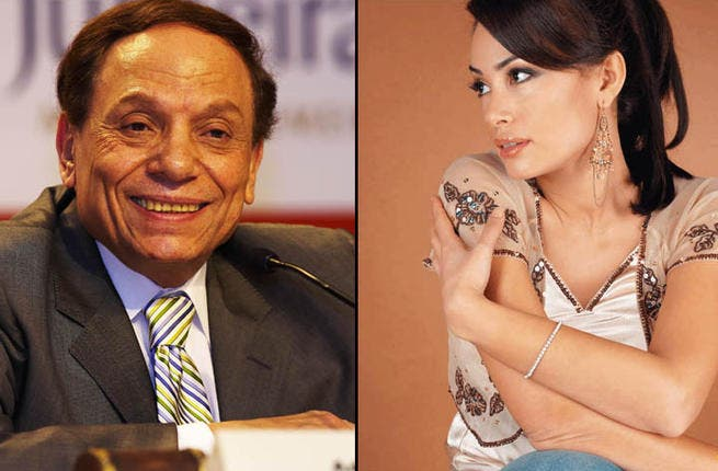 Adel Imam and Hind Sabri may smile on stage, but they know paying your taxes isn't funny