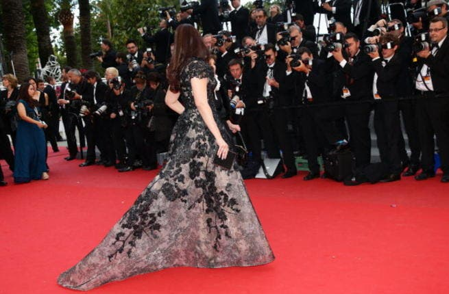 Aishwarya Rai is stylin' at the 66th Annual Cannes Film Festival at Palais des Festivals in an Elie Saab dress on May 19, 2013 (Photo by Vittorio Zunino Celotto/Getty Images)