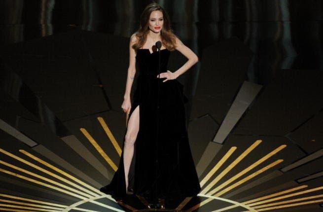 Maya Diab does the Angelina Jolie Oscar evening dress