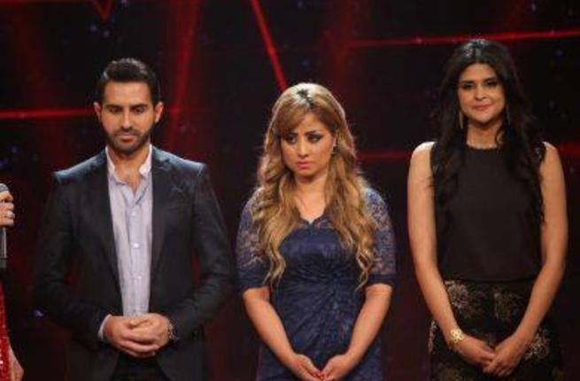 It was down to the bottom three: Salma and Perwaz nervous and sad (photo from the show's Facebook page)