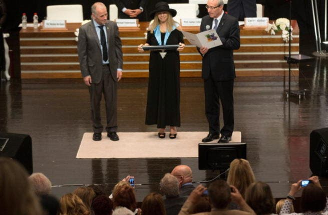 Barbra Streisand receives honorary doctorate from Hebrew University