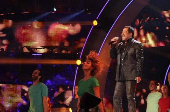Cheb Khaled lights up the stage Friday night on Arab Idol