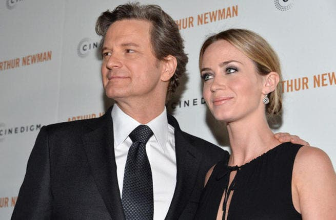 Actors Colin Firth and Emily Blunt attend the premiere of Arthur Newman' on April 18, 2013 in Hollywood, California. (Photo by Alberto E. Rodriguez/Getty Images)
